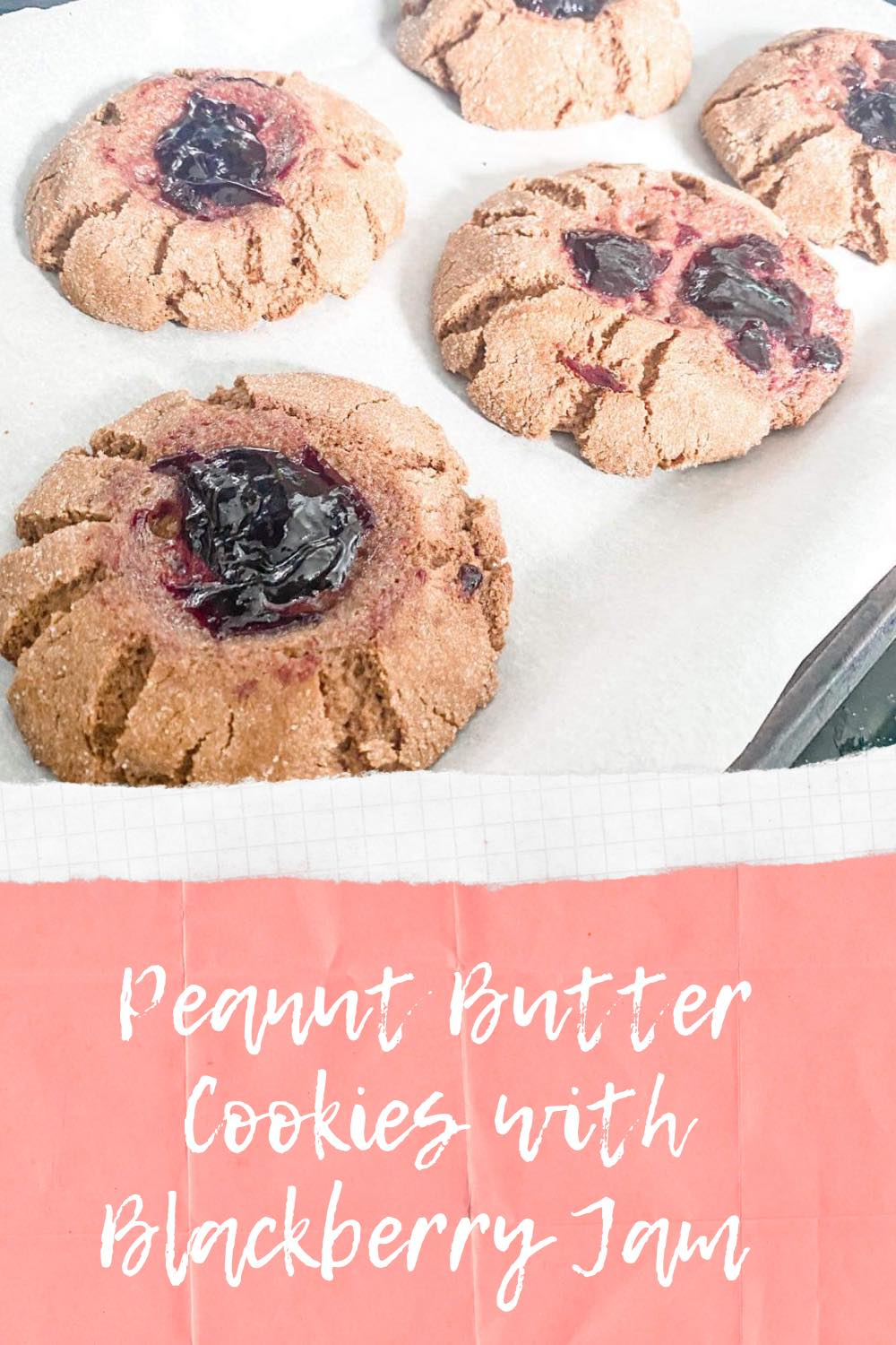 How to Make Peanut Butter Cookies with Blackberry Jam