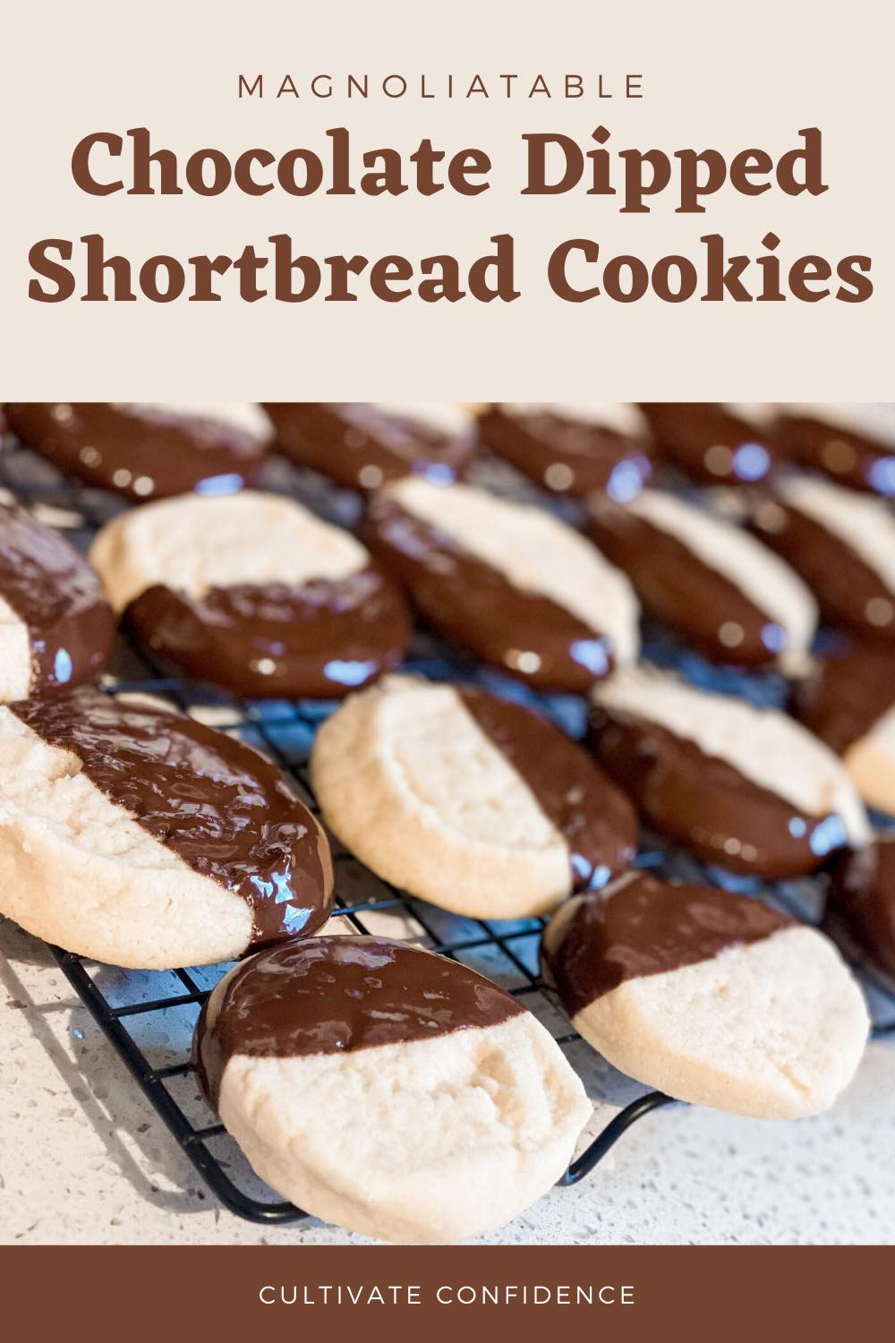 How to Make the Best Chocolate Dipped Shortbread Cookies